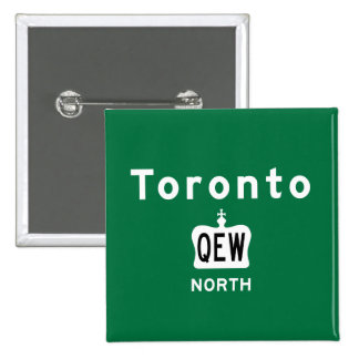 Toronto QEW Pin Cuadrada 5 Cm