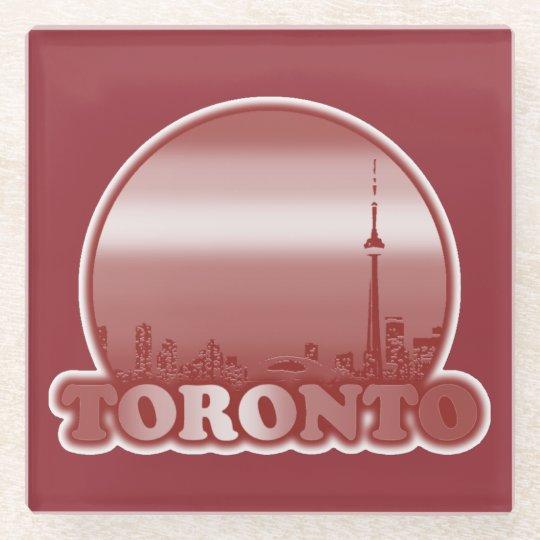 Toronto Red Sun Glass Coaster