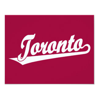 Toronto script logo in white card