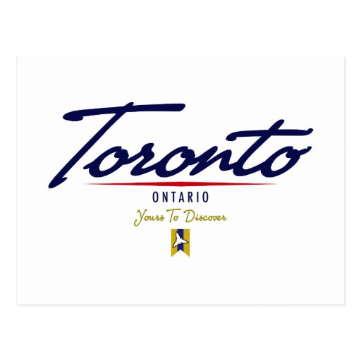 Toronto Script Postcard