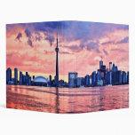 Toronto skyline 3 ring binders