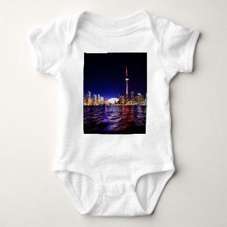 Toronto Skyline at Night Baby Bodysuit