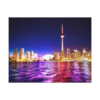 Toronto Skyline at Night Canvas Print