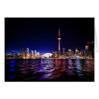 Toronto Skyline at Night Card