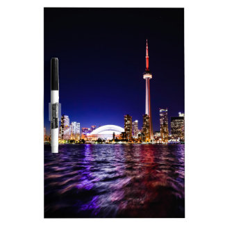 Toronto Skyline at Night Dry-Erase Board