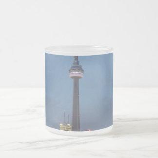 Toronto Skyline at night Frosted Glass Coffee Mug