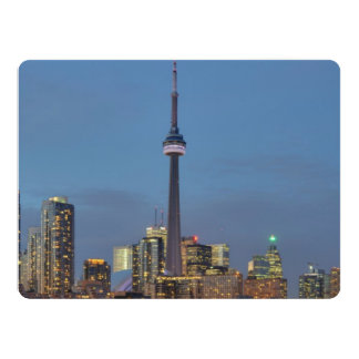 Toronto Skyline at night 6.5x8.75 Paper Invitation Card