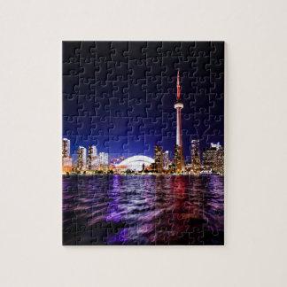 Toronto Skyline at Night Jigsaw Puzzle