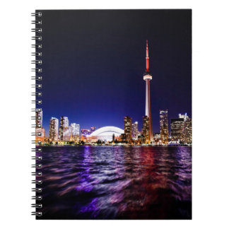 Toronto Skyline at Night Notebook