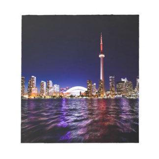 Toronto Skyline at Night Notepad
