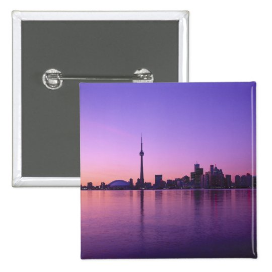 Toronto Skyline at night, Ontario, Canada Button