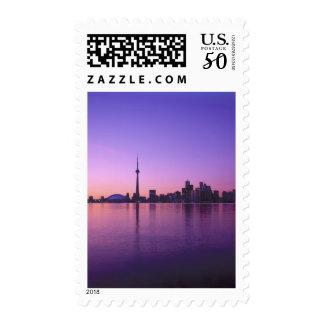 Toronto Skyline at night, Ontario, Canada Postage