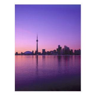 Toronto Skyline at night, Ontario, Canada Postcard
