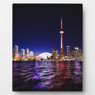 Toronto Skyline at Night Plaque