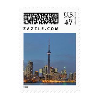 Toronto Skyline at night Postage