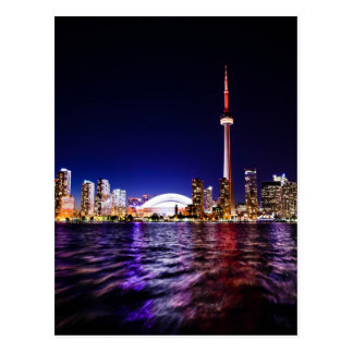 Toronto Skyline at Night Postcard