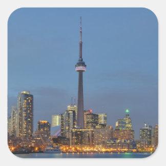 Toronto Skyline at night Square Sticker