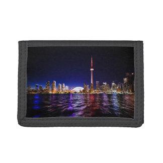 Toronto Skyline at Night Wallet