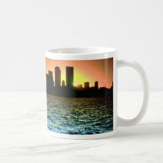 Toronto skyline at sunset, taken from Cherry Beach Coffee Mug