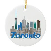 Toronto Skyline Ceramic Ornament