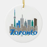 Toronto Skyline Christmas Ornament