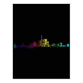 Toronto Skyline Gradient Postcard