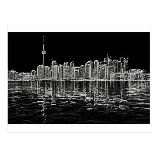 Toronto Skyline in Black and White Post Card