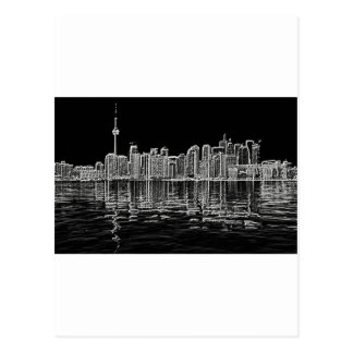 Toronto Skyline in Black and White Postcards