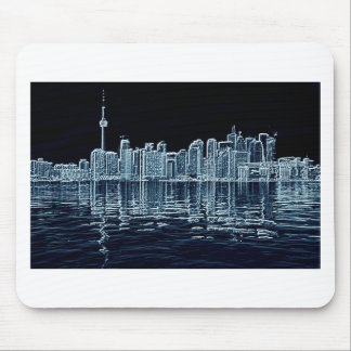 Toronto Skyline in Blue Mouse Pad
