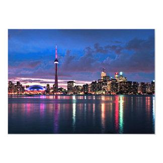 "Toronto skyline 5"" x 7"" invitation card"