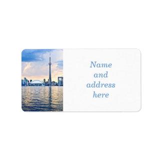 Toronto skyline label