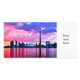 Toronto skyline photo card