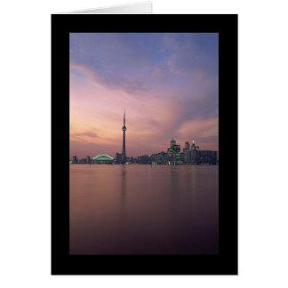 Toronto Skyline Portrait Greeting Card