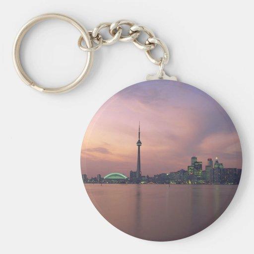Toronto Skyline Portrait Key Chains