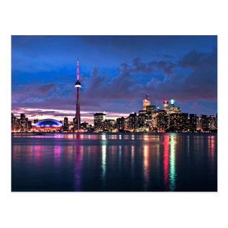 Toronto skyline post card