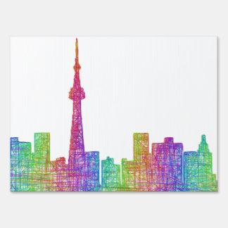 Toronto skyline sign