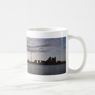 Toronto Skyline Silhouette Coffee Mugs