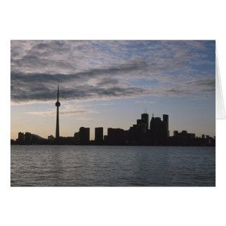 Toronto Skyline Silhouette Greeting Card