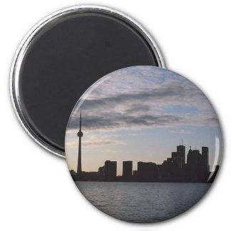 Toronto Skyline Silhouette 2 Inch Round Magnet