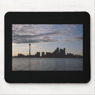 Toronto Skyline Silhouette Mouse Pad