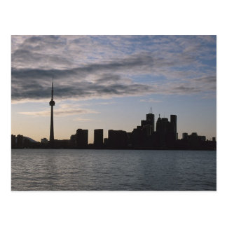 Toronto Skyline Silhouette Postcard