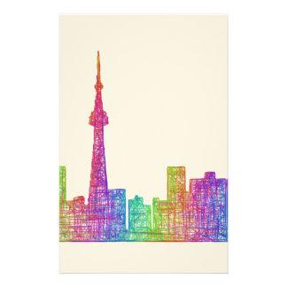 Toronto skyline stationery
