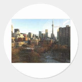 Toronto Skyline Round Sticker