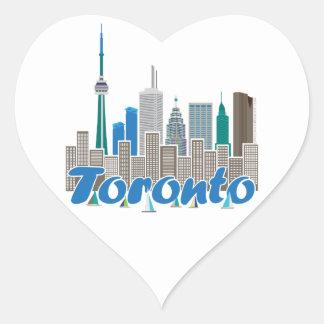 Toronto Skyline Heart Stickers