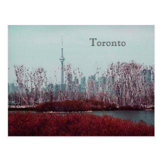 Toronto spring skyline postcard