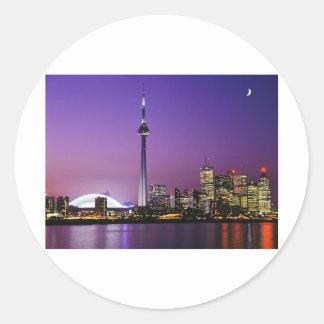 Toronto Round Stickers