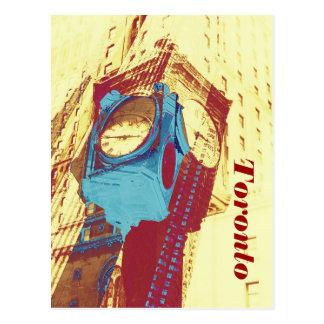 toronto time - old closck by Union station Postcard