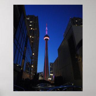 Toronto Tower Night Print