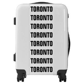 TORONTO, Typo black Luggage