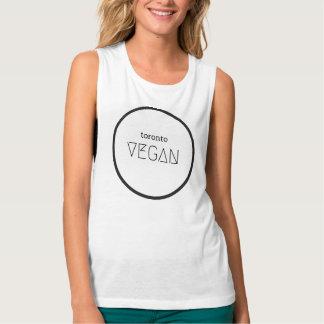 Toronto Vegan Black and White Muscle Tank